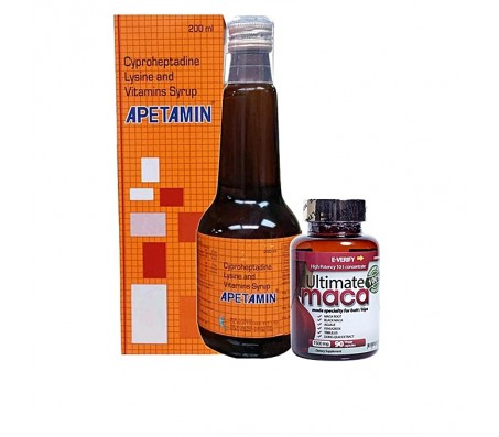 Ultimate Maca Dietary Supplement + Apetamin Vitamins Syrup