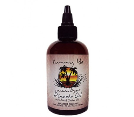 Jamaican Organic Pimento Oil with Black Castor Oil 4 Oz