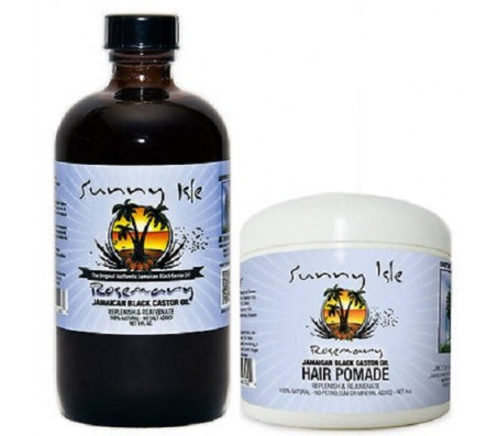Sunny Isle Rosemary Jamaican Black Castor Oil 8 Oz and Hair Pomade Combo