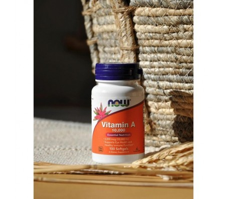 Now Vitamin A Essential Nutrient 10,000 - 100 Softgels